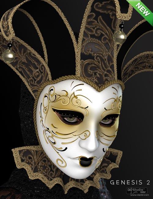 Venetian Mask for Genesis 2 Female(s)