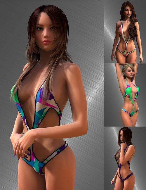 Superhero Monokini for Genesis 2 Female(s)