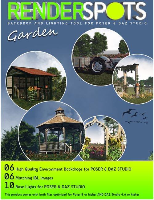 RenderSpots Garden for Poser and DAZ Studio