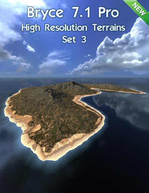Bryce 7.1 Pro - High Resolution Terrains - Set 3