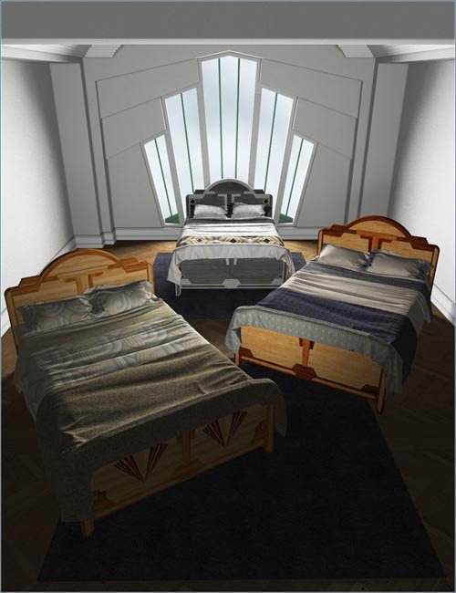 Deco Shades for Deco Bed 1