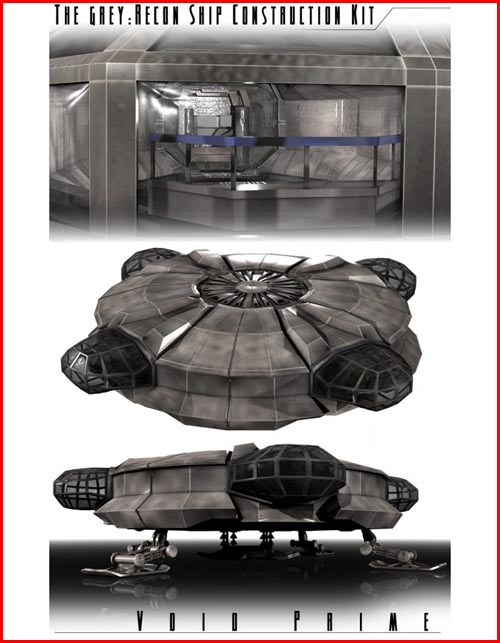 Grey Alien: Recon Ship Construction Kit Complete Bundle