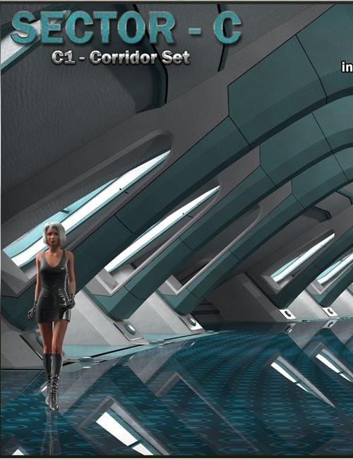 Ship Elements C1: Corridor Set