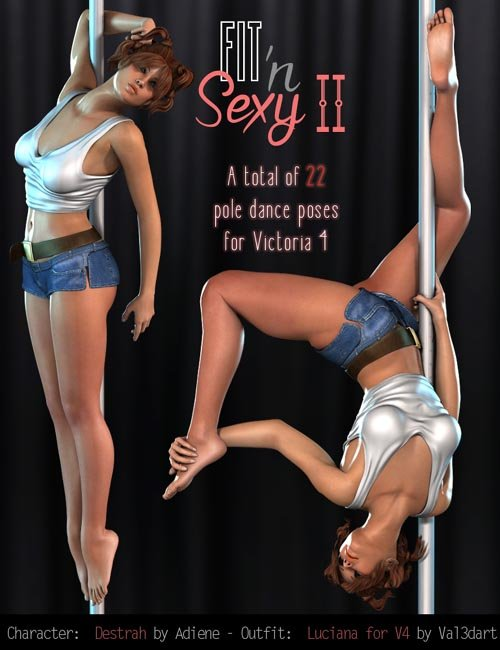 Fit n Sexy II - V4 Pole dance poses