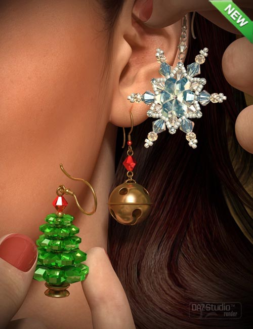 Christmas Earrings for Genesis 2 Female(s)