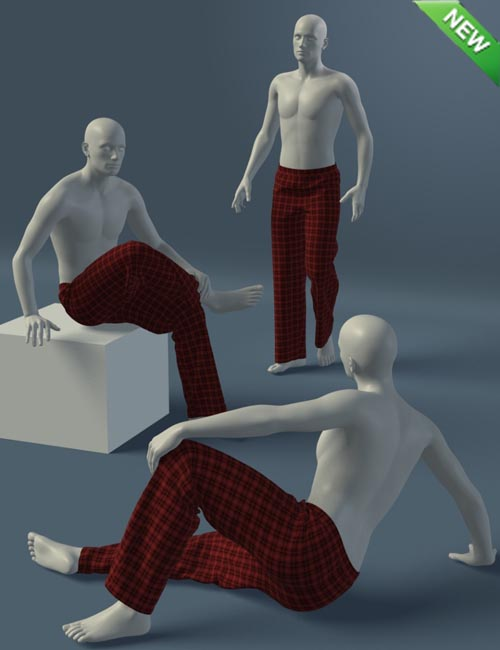 Leisure Pants for Genesis 2 Male(s)