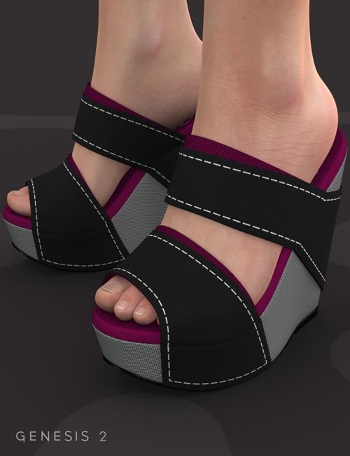 Platform Wedge Shoes for Genesis 2 Female(s)