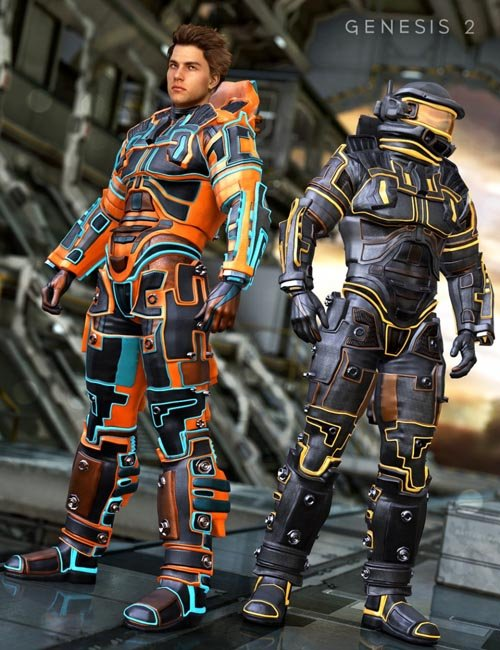 Space Hunter Outfit Textures