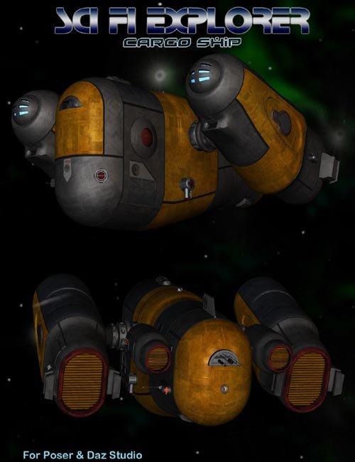 Sci Fi Explorer Cargo Ship