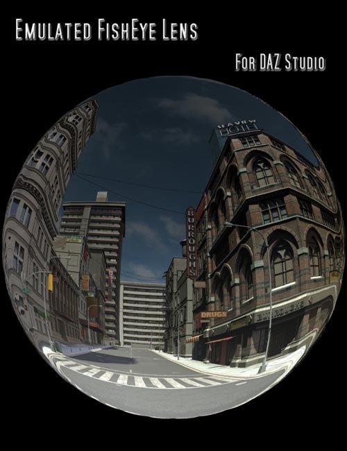 Emulated FishEye Lens for DAZ Studio