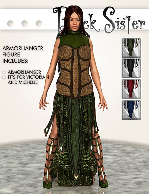 BlackSister armorhangers for Michelle and Victoria 4