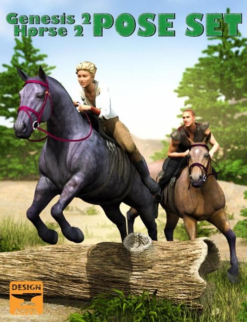 DA Horse and Rider Poses