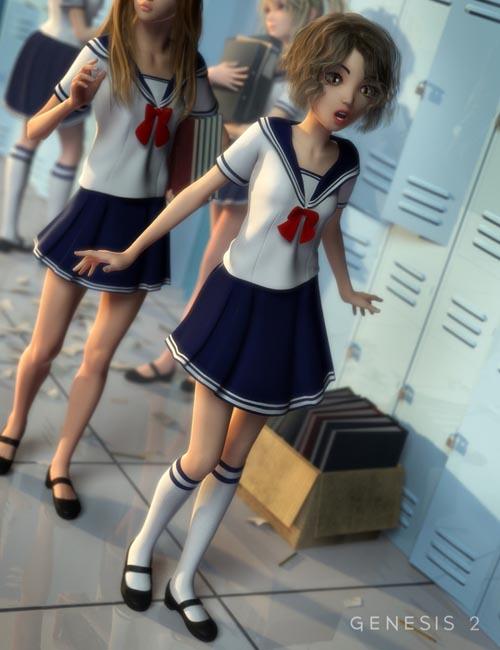 School Girl for Genesis 2 Female(s)