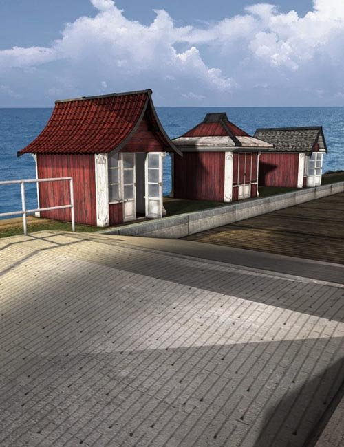 The boardwalk beach huts best daz3d poses download site for Model beach huts