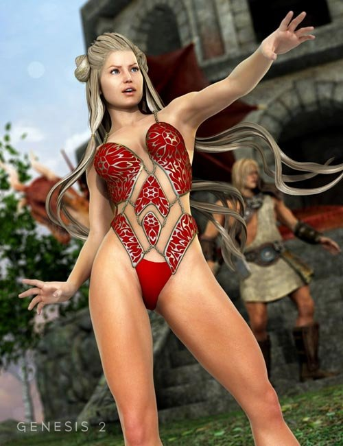 Chained Bodysuit for Genesis 2 Female(s)