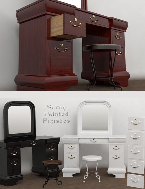 Furniture Set One, Dressing Table
