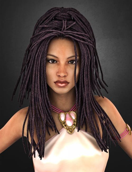 Medea Hair ADD-ON for Genesis 2 Female(s) and Victoria 4