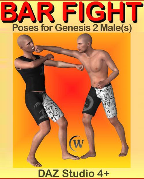 BAR FIGHT POSES for Genesis 2 Male(s)