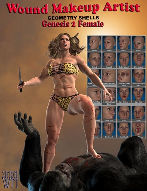 Wound Makeup Artist Geometry Shells - Genesis 2 Female(s)