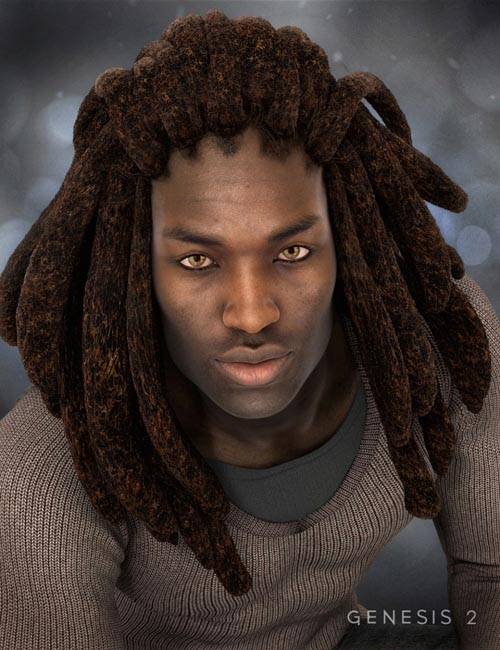 Messy Dreads for Genesis 2 Male(s)