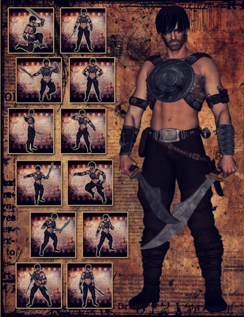 Fantasy Warrior Poses