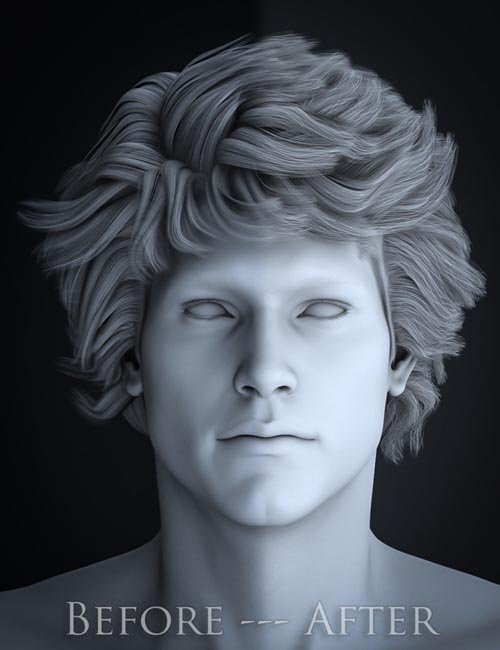 Micah Hair Frizzies - Realistic Hair Augmentation for DAZ Studio