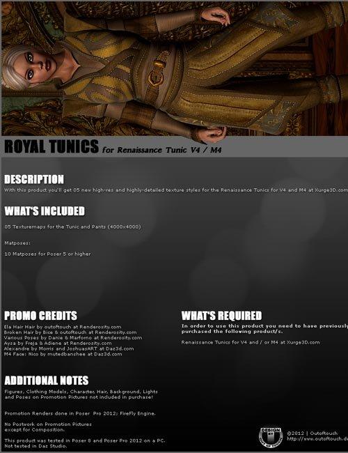 ROYAL TUNICS for Renaissance Tunic by Xurge3D