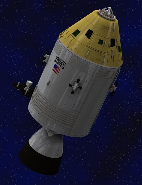 Apollo Spacecraft (for Poser)