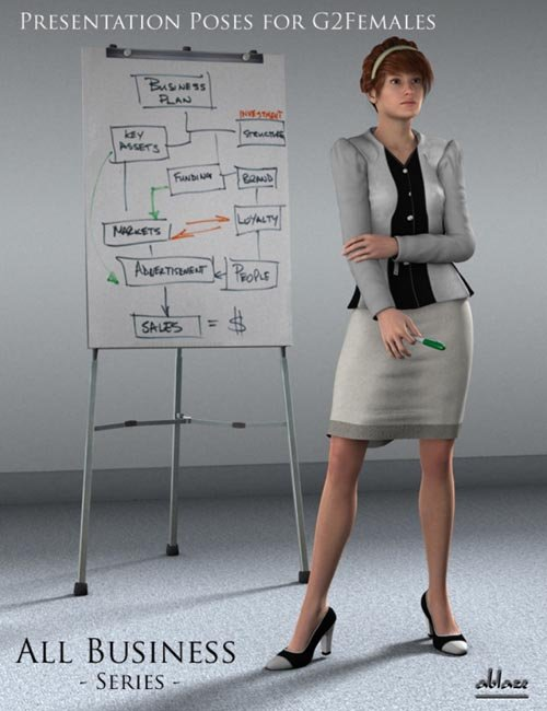 All Business Presentation Poses for Genesis 2 Female(s)