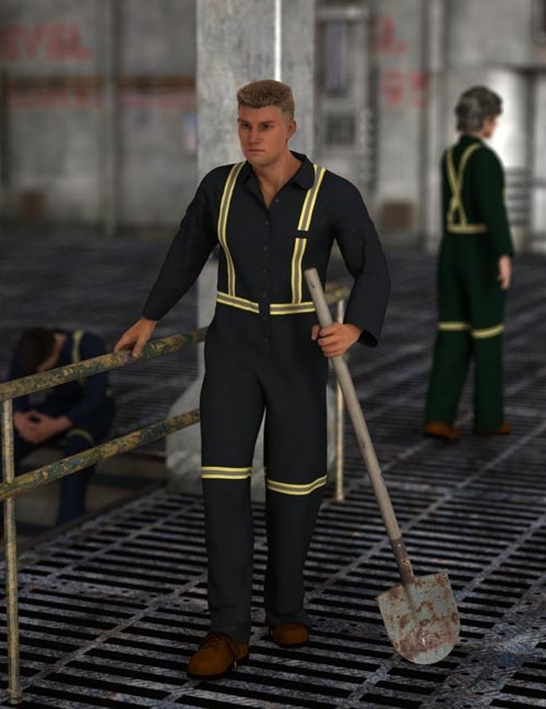 [UPDATE] Blue Collar Basics Coveralls for Genesis 2 Males and Females Bundle