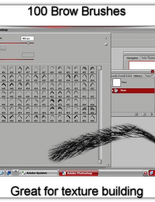 Eyebrow Brushes for Photoshop CS