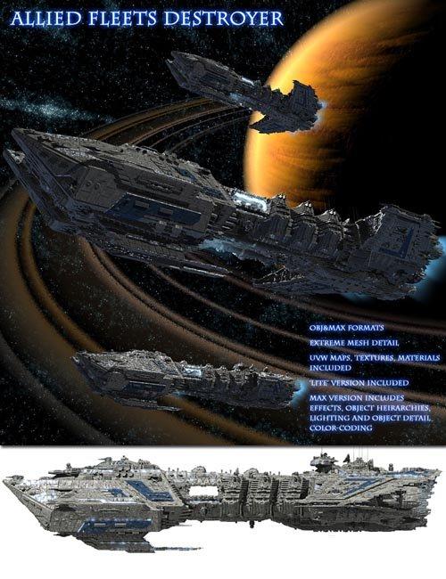 Allied Fleets Destroyer - Multi Format