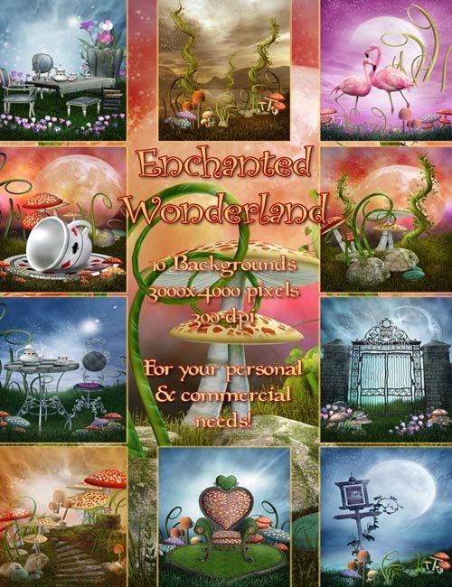 Enchanted Wonderland Backgrounds