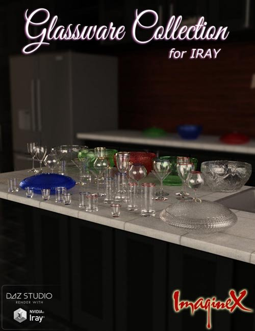 Glassware Collection for Iray