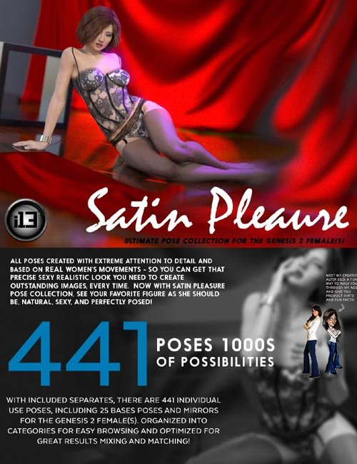 i13 Satin Pleasure Pose Collection for G2F/V6