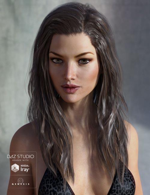 Leyton Hair for Genesis 3 Female(s) and Genesis 2 Female(s)