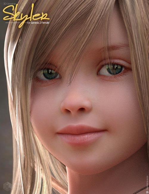 Skyler Character and Hair for Genesis 2 Female(s)