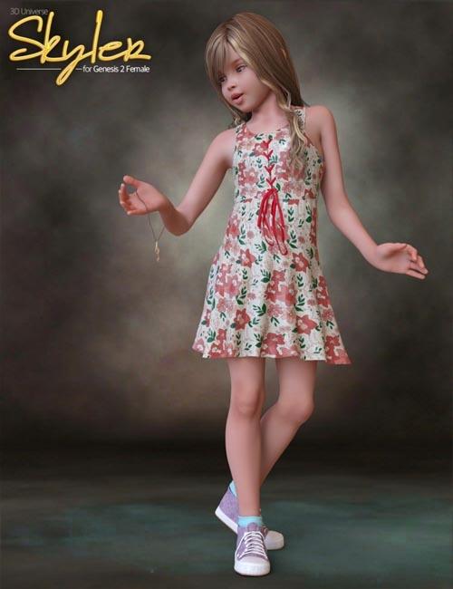 Skyler Clothing for Genesis 2 Female(s)
