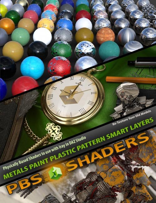 Mec4d PBS Shaders vol.1 for Iray