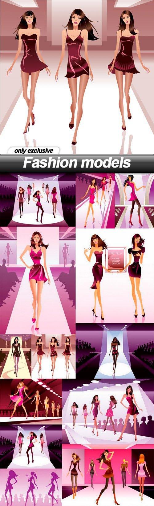 Fashion models - 15 EPS