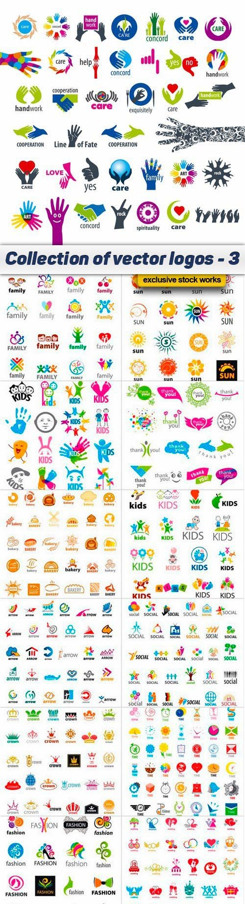 Collection of vector logos - 3 - 15 EPS