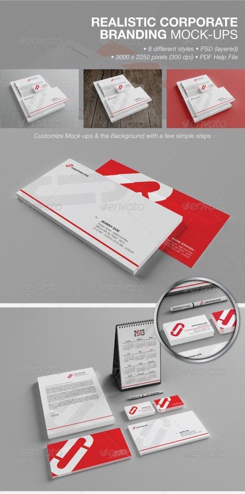 GraphicRiver - Realistic Corporate Branding Mock-ups