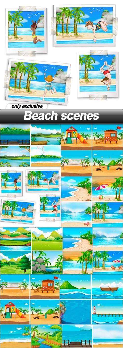 Beach scenes - 10 EPS