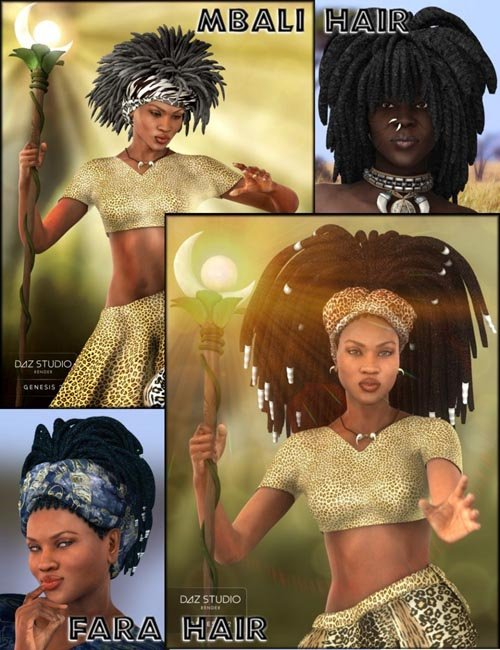 Afro Dreadlocks Bundle with Bonus Content
