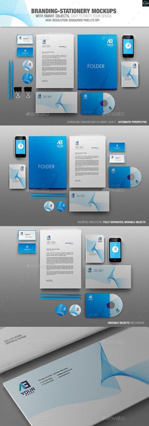 GraphicRiver - Branding-Stationery Mockups 6555068