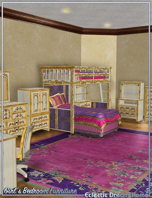 Dream Home Eclectic Girls Bedroom Furniture