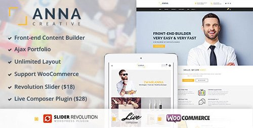 ThemeForest - Anna v1.0 - Creative Multipurpose WordPress Theme