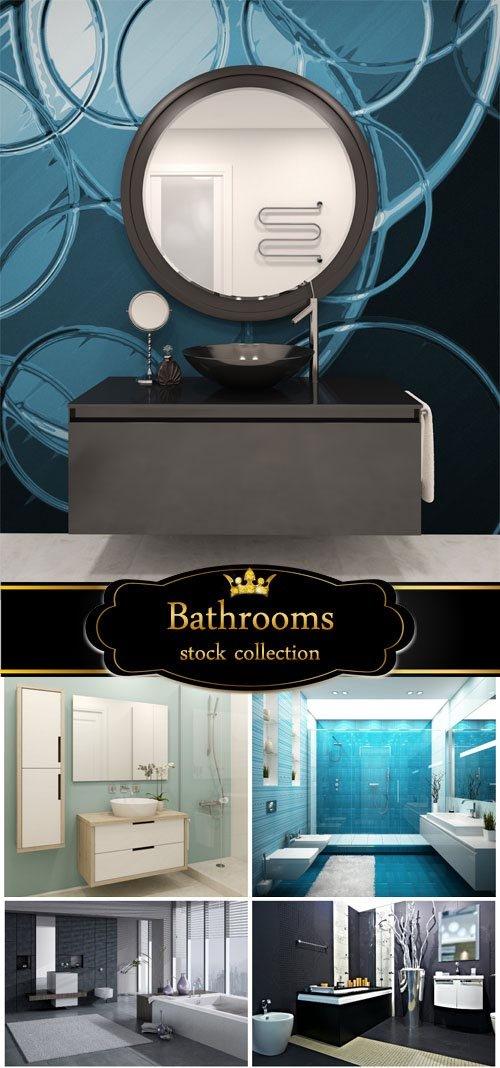 Bathrooms, interior - stock photos
