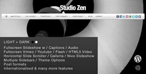ThemeForest - Studio Zen v2.1 - Fullscreen Portfolio WordPress Theme