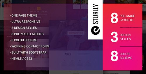ThemeForest - Sturlly v1.4 - Responsive One Page Multi-Purpose Template - FULL